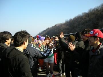 オフィシャルとエール交換!!