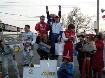 CAスポーツカート耐久開幕戦、GT-1クラス表彰式