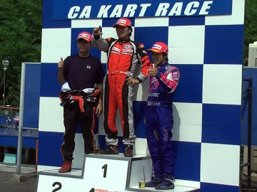 CAカートレース第5戦 AKIGASE-SSクラス レース1暫定表彰式