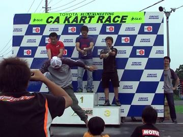 2011年CAカートレース第3戦スーパーSS表彰式