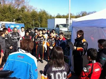 第2回ガレージCカップ TT前に行われたドラミの模様